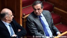 Antonis Samaras und Stavros Dimas Präsidentschaftskandidat in Griechenland