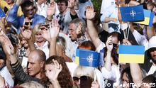 Ukraine Kiew PRO NATO EU Beitritt Demonstration 05.09.2014
