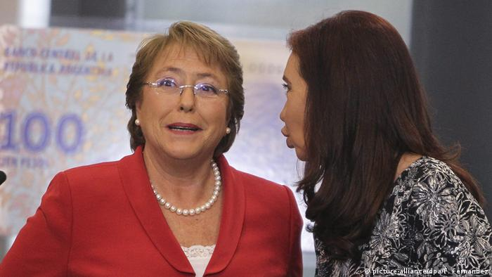 Buenos Aires meeting of Michelle Bachelet and Cristina Fernandez de Kirchner (picture-alliance/dpa/F. Fernandez)