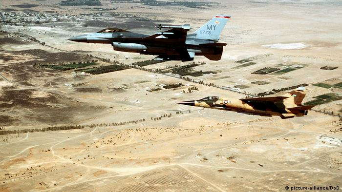 Royal Jordanian Air Force F-1 Mirage U.S. F-16 Fighting Falcon