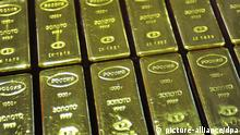 Gold bars are a finished product of the Yekaterinburg, Russia, non-ferrous metals processing plant.