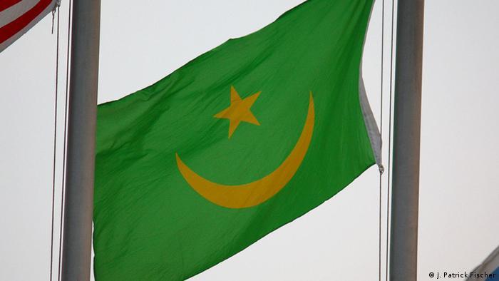 Wehende Flagge Mauretaniens