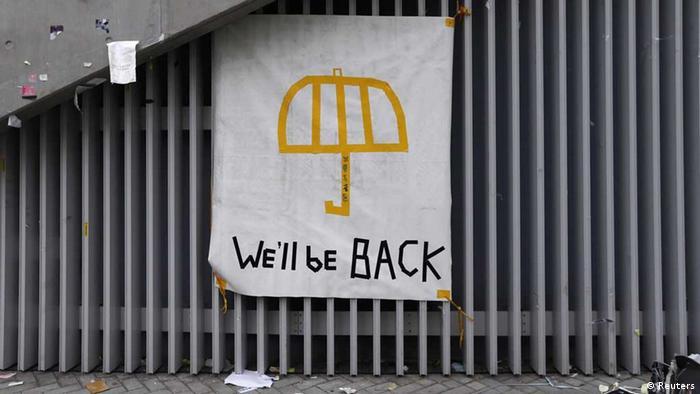 Hongkong / Demokratiebewegung / Regenschirm