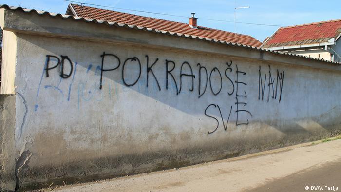 Natpis na kući u selu Gunja