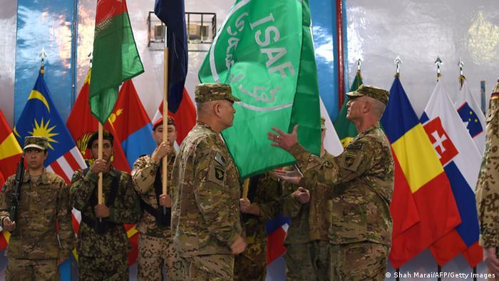 Afghanistan Zeremonie Ende NATO Mission ISAF Campbell 28.12.2014