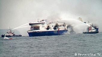 Požar na trajektu Norman Atlantic 28.12.2014