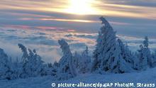 Deutschland Schneefall Wintereinbruch 28.12.2014