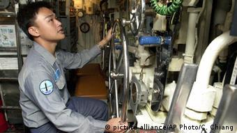 Matrose in einem taiwanischen U-Boot