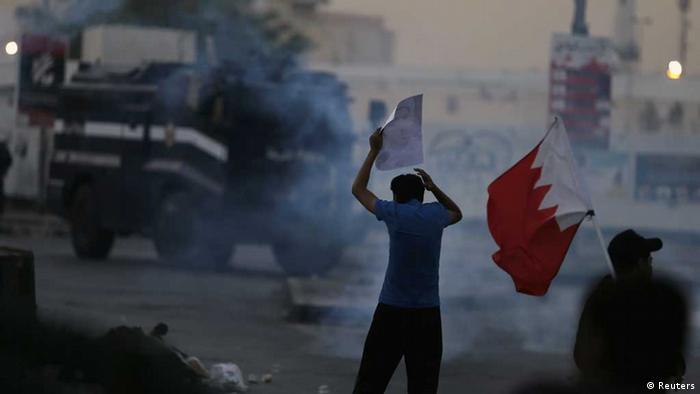 Proteste in Bahrain gegen die Anklage von Al-Wefak-Generalsekretär Scheich Ali Salman