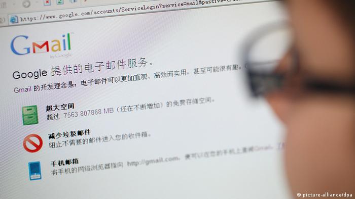 China Google Gmail Blockade blockiert Sperrung Internet Zensur