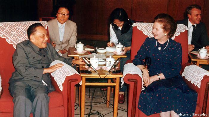 Großbretanien China Zusammenarbeit Margaret Thatcher und Deng Xiaoping (picture alliance/dpa)