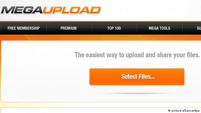Screenshot of Megaupload
