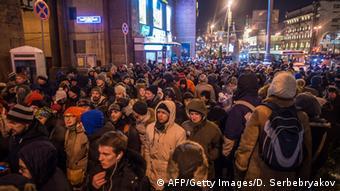 Oppositionsdemonstration vor dem Kreml in Moskau 30.12.2014 Navalny