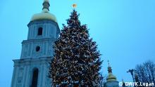 Auf dem Weihnachtsmarkt in Kiew