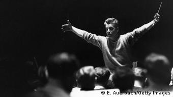 Berlin Philharmonic conductor Herbert von Karajan. Copyright: Erich Auerbach/Getty Images