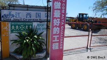 Chinesische Baufirma in Mosambik