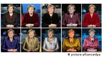 Меркель во время своих 10 новогодних обращений