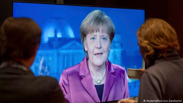Ангела Меркель в новогоднем обращении 2015 года