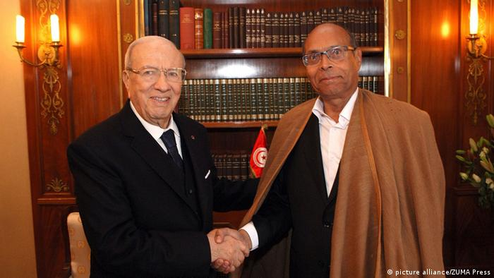 Tunesien Präsident Beji Caid Essebsi und Moncef Marzouki (picture alliance/ZUMA Press)