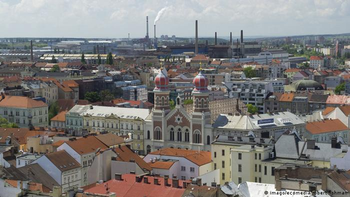Vista panorâmica da cidade de Pilsen