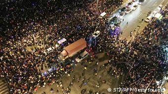 Schanghai China Massenpanik während Silvesterfeier