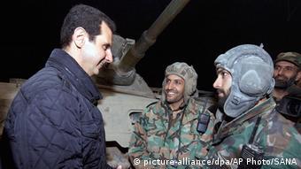 Syrien Truppenbesuch Assad 1. Jan. 2015