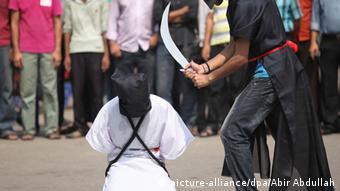 Symbolbild Schwert Exekution Saudi-Arabien