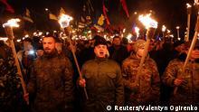 Ukraine Kiew Fackelmarsch Nationalisten 1.1.2015