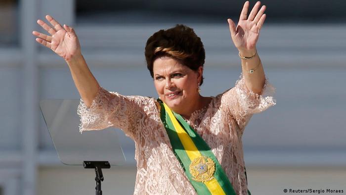 Dilma Rousseff abana no dia da posse