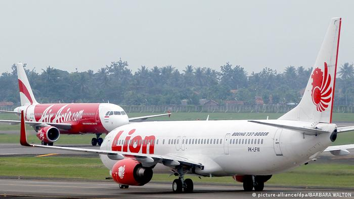 Lion Air Air Asia planes (picture-alliance/dpa/BARBARA WALTON)