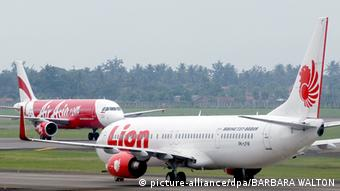 Fluggesellschaft Lion Air Air Asia in Indonesien