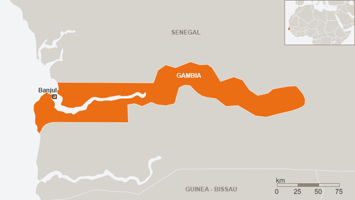 Map Gambia (DW)