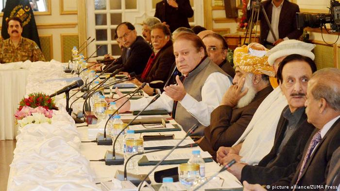 Prime Minister Nawaz Sharif addressing to All Parties Conference held at PM House in Islamabad on Friday, January 02, 2015