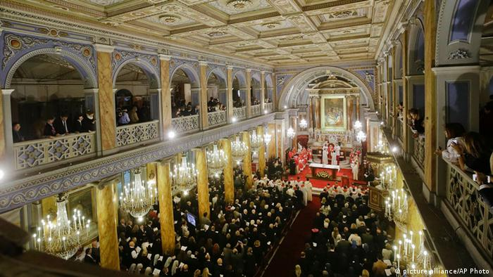 Pope Francis celebrates a Mass inside the Holy spirit Cathedral in Istanbul, Turkey, Saturday, Nov. 29, 2014