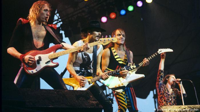 Die Scorpions auf der Bühne