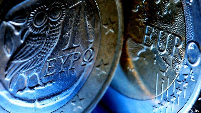 Griechische Euro-Münzen euro griechenland athen