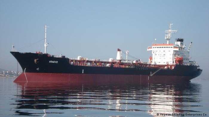 Öltanker Araevo Archivbild (Aegean Shipping Enterprises Co.)