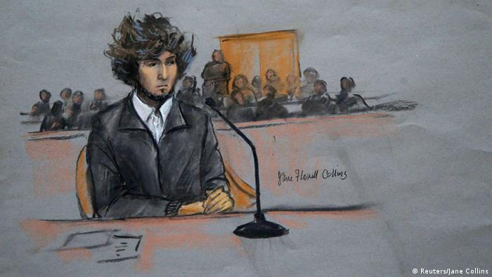 Boston Anschlag Prozess Zeichnung