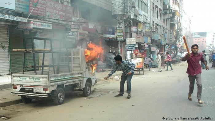 Unruhen in Bangladesch 05.01.2015