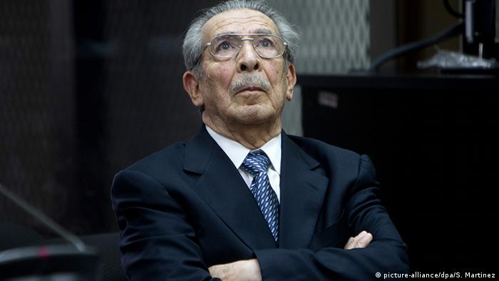 El exdictador José Efraín Ríos Montt.