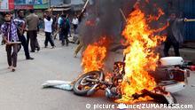 Bangladesch Dhaka Zusammenstöße Gewalt Straßenschlachten 5.1.2015
