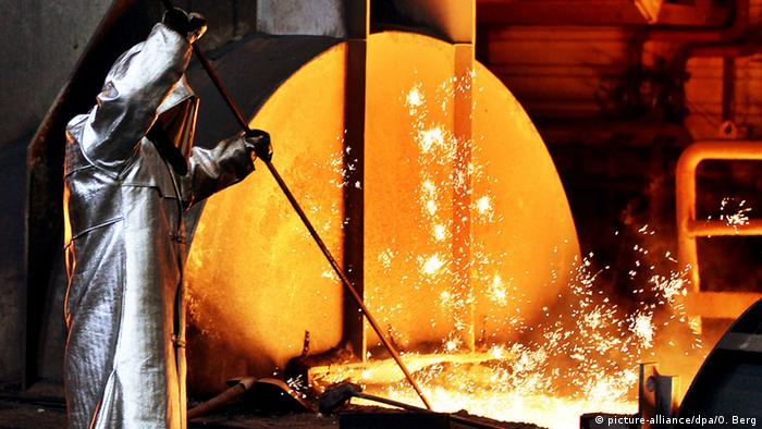 Steel mill worker