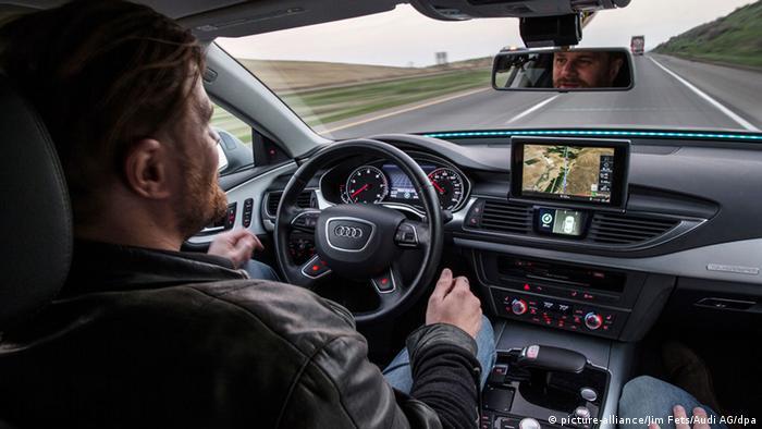Audi A7 с автоматизированной системой управления