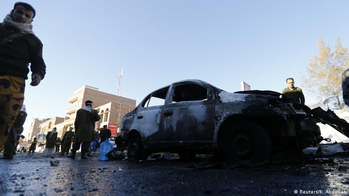Jemen Sanaa Autobombe vor Polizeiakademie 07.01.2014