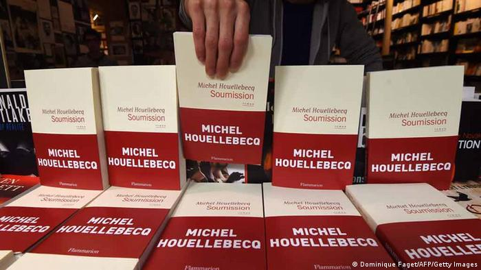 Library display of Houellebecq novel Soumission (Dominique Faget/AFP/Getty Images)