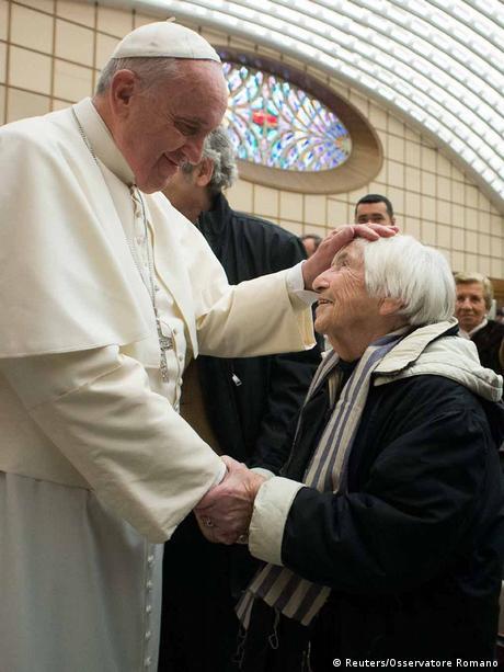 Papst Franziskus trifft Auschwitz Überlebende 7. Januar 2015