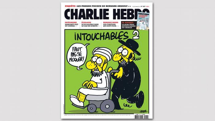 Bildergalerie Cover des Satiremagazins Charlie Hebdo
