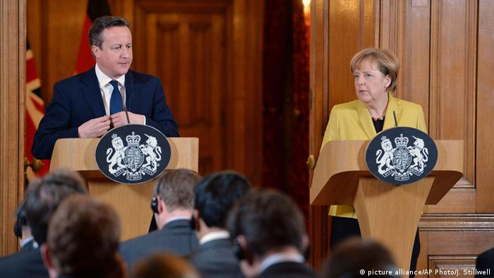 Cameron und Merkel in London (Foto: picture alliance/AP)