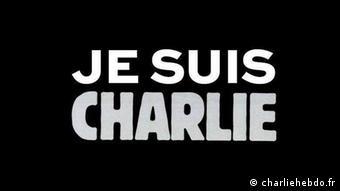 Natpis Je suis Charlie