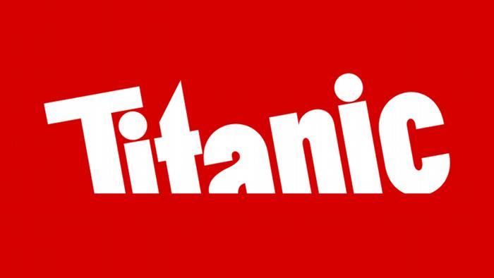 EINSCHRÄNKUNG Logo der Satirezeitschrift Titanic